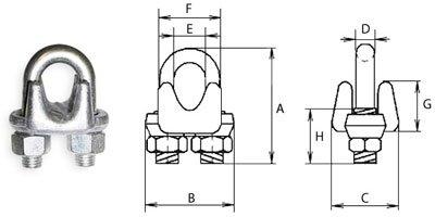 Зажим для канату HDG G450